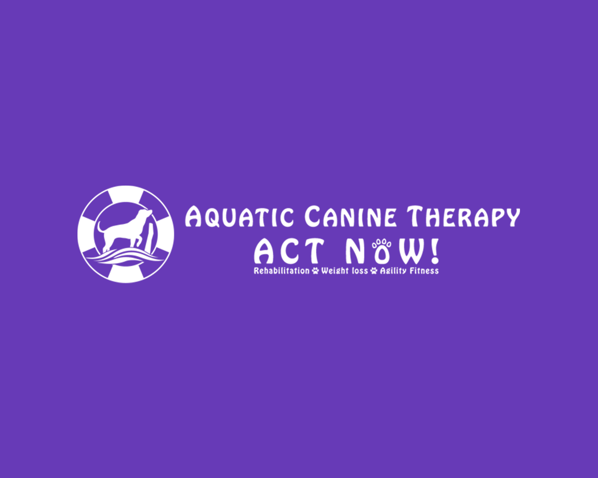 aquatic canine therapy Logo