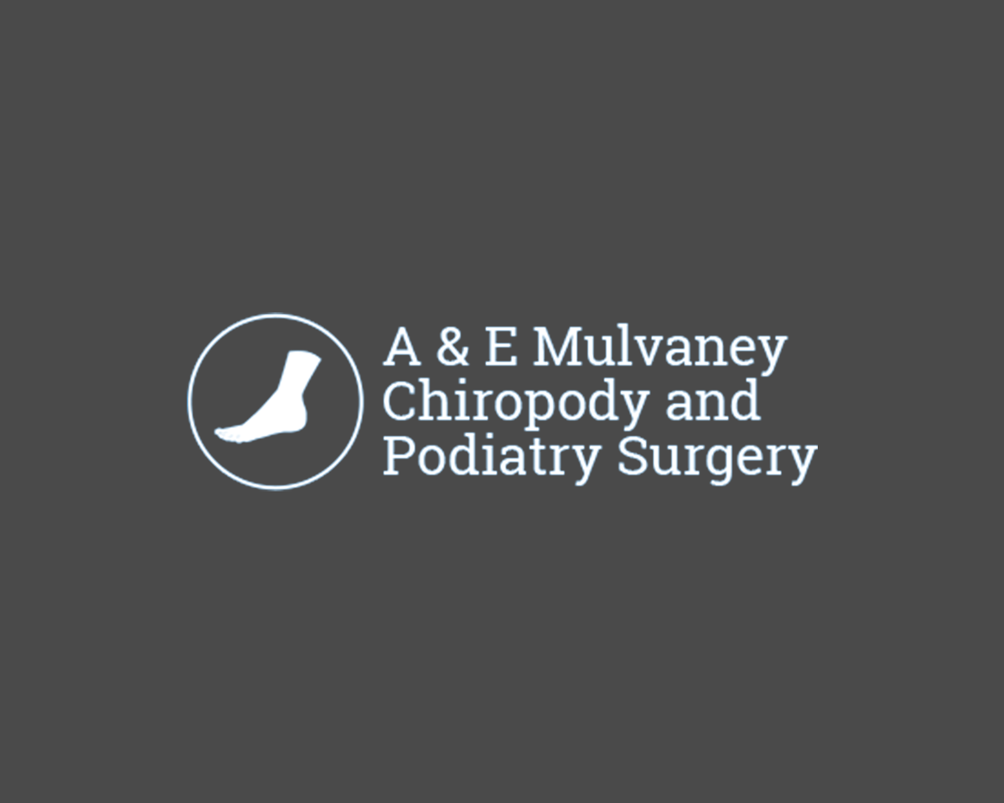 a & e mulvaney chiropody and podiatry surgery Logo